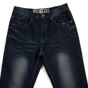 Southpole Distressed Dark Denim Jeans